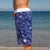 SBB Mens Surfer Boardies from recycled plastic bottles, in Sea Dragon print. Left side view