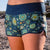 SBB Womens Cute Butt Boardies from recycled plastic bottles In Bloom, front close up view