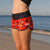SBB Womens Cute Butt Boardies recycled Garden Party left view