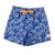 South Beach Boardies Kids Retro Trunks Palmageddon front , made from recycled plastic bottles
