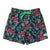 Kids Retro Trunks in Sweet Pineapples. Made from recycled plastic bottles, from South Beach Boardies. Front.