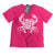 South Beach Boardies pink kids organic tshirt ocean pollution makes me crabby, front