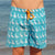 South Beach Boardies Mens Retro Trunks from Recycled Plastic Bottles, The Pelican Briefs, front view