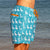 South Beach Boardies Mens Retro Trunks from Recycled Plastic Bottles, The Pelican Briefs, right side