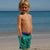 Boy wearing South Beach Boardies recycled plastic Unisex Kids Going Out Boardies in Shipping Lanes