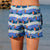 outh Beach Boardies recycled plastic Womens Summer Shorts in My Favourite Mermaid, back view
