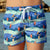 outh Beach Boardies recycled plastic Womens Summer Shorts in My Favourite Mermaid, front view