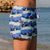 outh Beach Boardies recycled plastic Womens Summer Shorts in My Favourite Mermaid, right side view