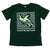 kids green turtle t-shirt plastic free seas please front