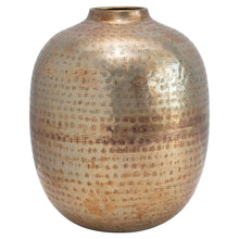 Load image into Gallery viewer, Hammered Brass Vase