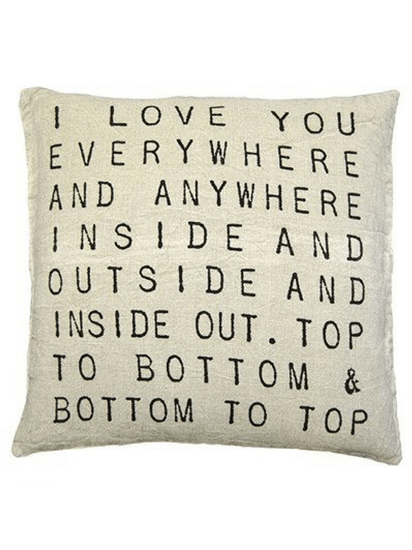 I Love You Everywhere Pillow