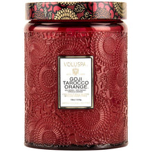 Load image into Gallery viewer, Goji Tarocco Orange Glass Jar Candle
