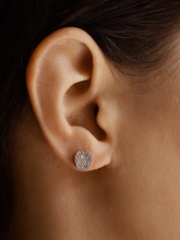 Load image into Gallery viewer, Pave Organic Disc Earrings