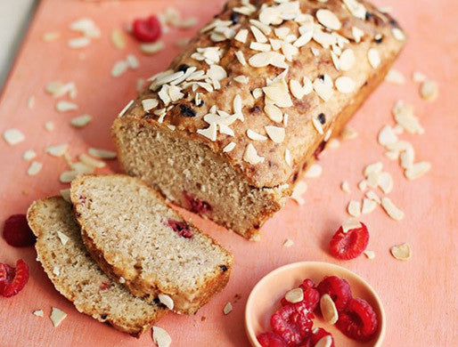 rooibos tea, raspberry & coconut loaf recipe
