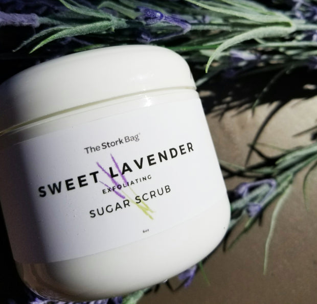 Sweet Lavender Sugar Scrub - The Stork Bag