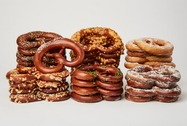 The Greatest Hits. 16 Pretzels, 4 Flavors and Dips. Free Local Shipment.
