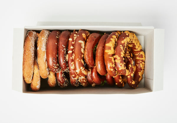 Build Your Own Box of 12 Soft Pretzels. Choose From 3 Flavors