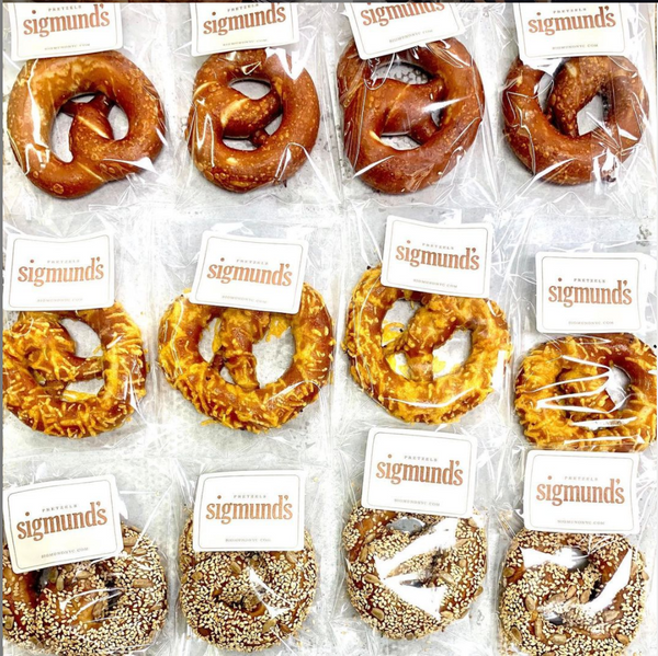 Individually Wrapped 12 Soft Pretzels in Assorted Flavors. Free Local Shipment.