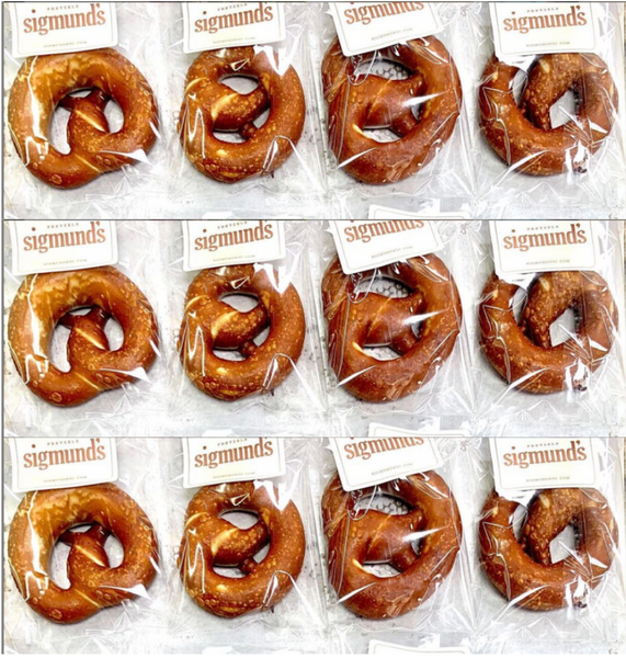 Individually Wrapped 12 Original Soft Pretzels. Free Local Shipment.