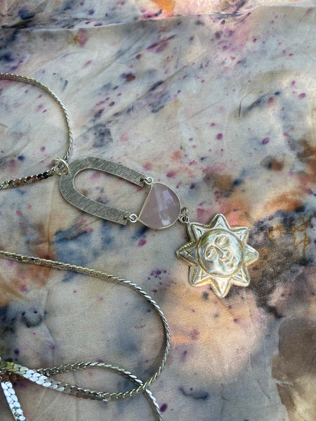 The Pink Sun Necklace - Flatwoods Fawn