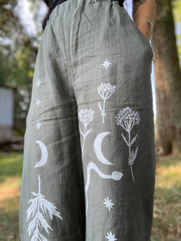 Mugwort + Moon Pants in Pine Green or Lavender - Ready to Ship