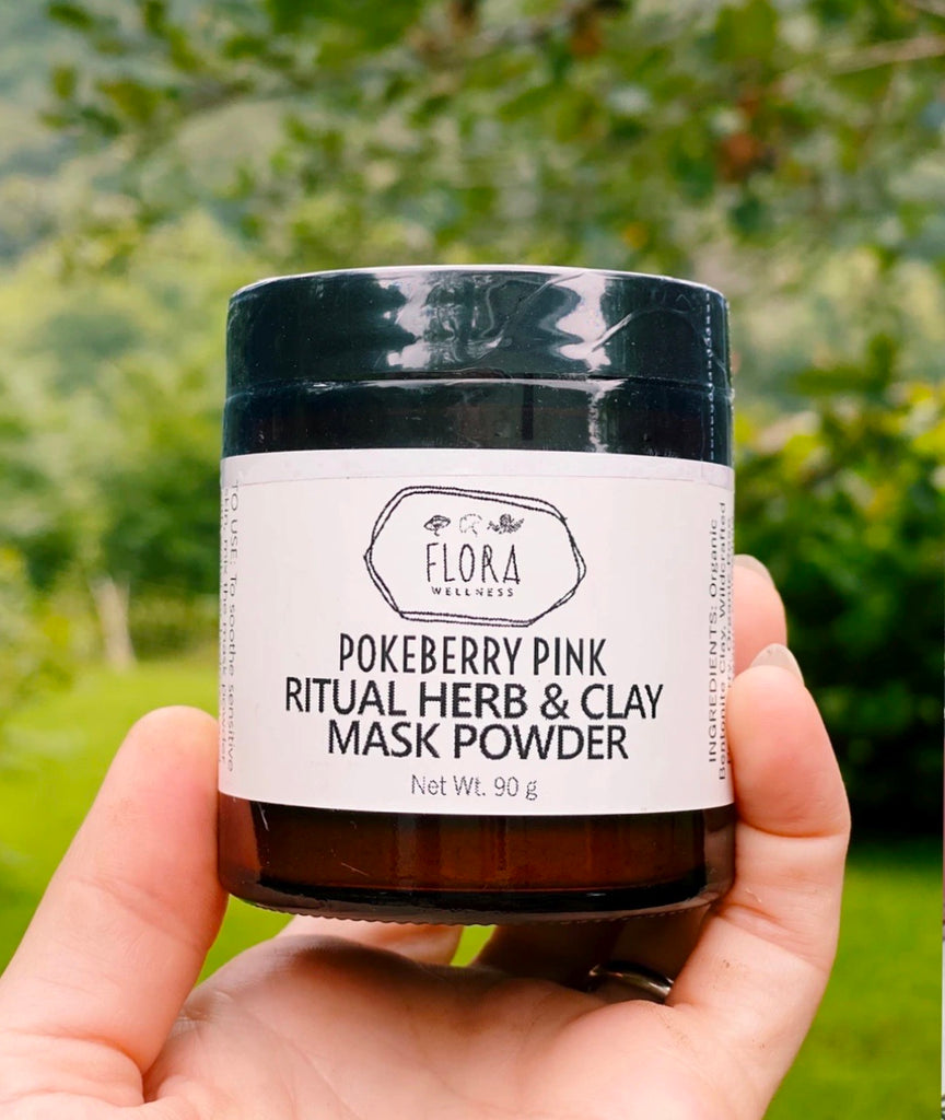 Pokeberry Pink Ritual Herb & Clay Mask