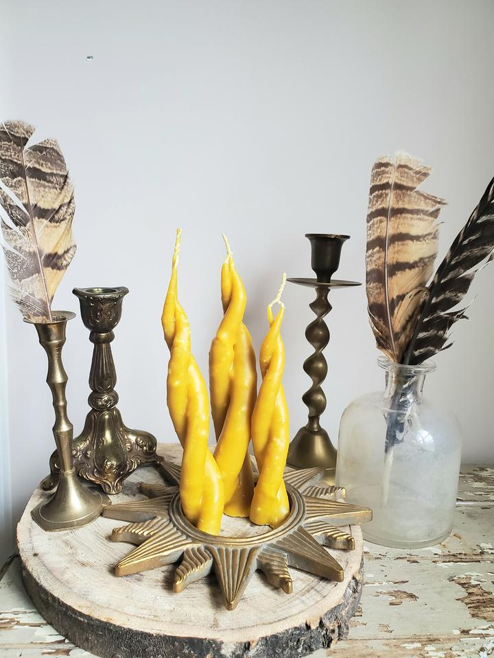 Twisted Sister Hand-Dipped Beeswax Candle