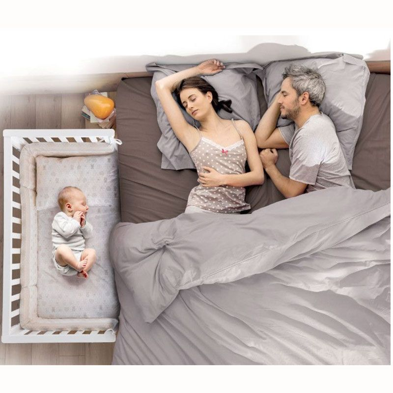 Pat bebe co-sleeping Contact Art cu salteluta inclusa si suport antireflux
