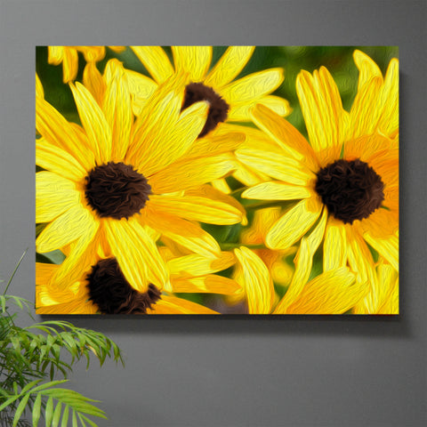 Black-Eyed Susie Stretched Canvas Wall Art