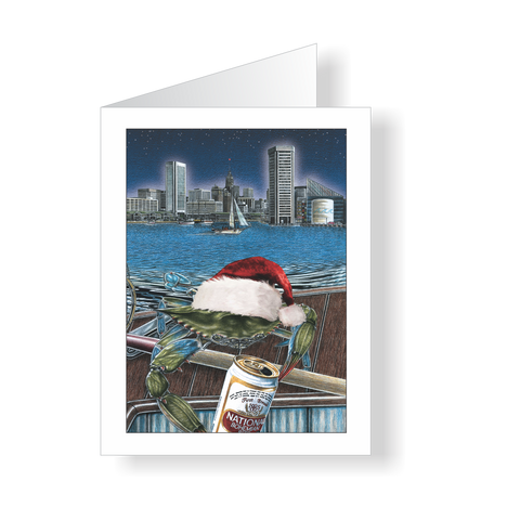 Holiday Cards - Boh Ho Ho Baltimore Crab