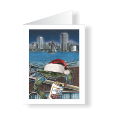 Holiday Cards - Boh Ho Ho Baltimore Crab - JWB Art Unlimited