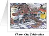 Charm City Celebration Crab Art Print - Ravens 2000 Super Bowl