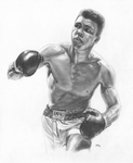 Cassius Clay | Muhammad Ali Portrait - JWB Art Unlimited