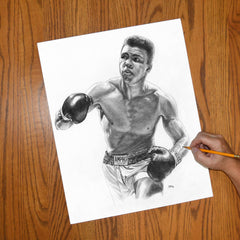 Cassius Clay | Champion Muhammad Ali - JWB Art Unlimited