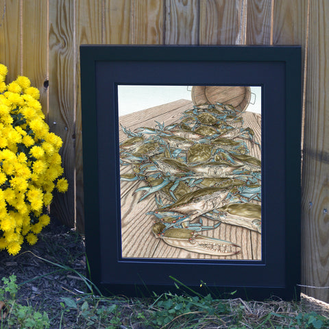 Catch of the Day Blue Crabs Print - JWB Art Unlimited