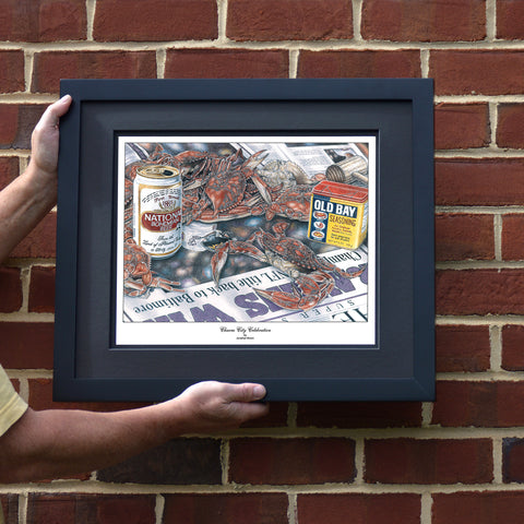 Charm City Celebration Crab Art Print - Ravens 2000 Super Bowl XXXV Win
