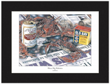 Charm City Celebration Crab Art Print - Ravens 2000 Super Bowl - JWB Art Unlimited