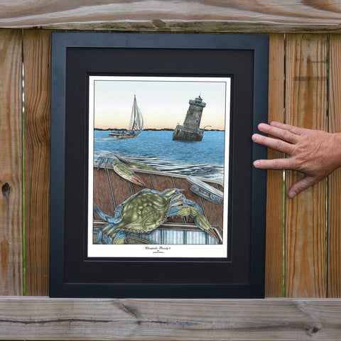Chesapeake Bounty 2 Sharps Island Lighthouse Wall Art - JWB Art Unlimited