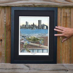 Chesapeake Bounty 4 Baltimore Harbor Crab Print