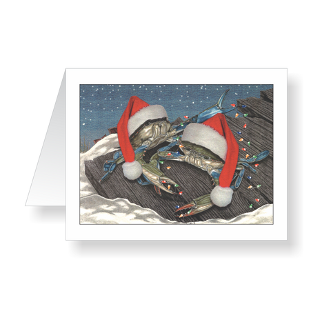 Mr &  Mrs Claws Crab Holiday Cards - JWB Art Unlimited