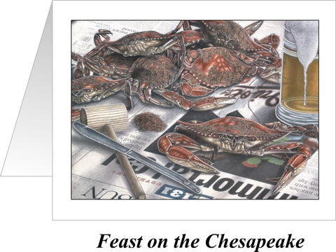 Feast on the Chesapeake Orioles Crab Note Cards