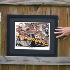 Glory in the Big Easy Crab on Newspaper Print - Ravens 2012 Super Bowl Win - JWB Art Unlimited