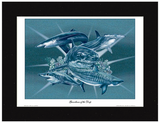 Guardians of the Deep Shark Wall Art - JWB Art Unlimited