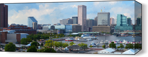 The Baltimore Harbor Far 1 Wall Art - JWB Art Unlimited