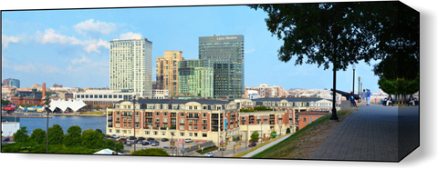 The Baltimore Harbor Far 3 Wall Art - JWB Art Unlimited