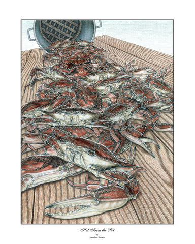 Hot From The Pot Crab Wall Art - JWB Art Unlimited