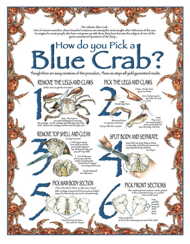 How Do You Pick a Blue Crab Art Print