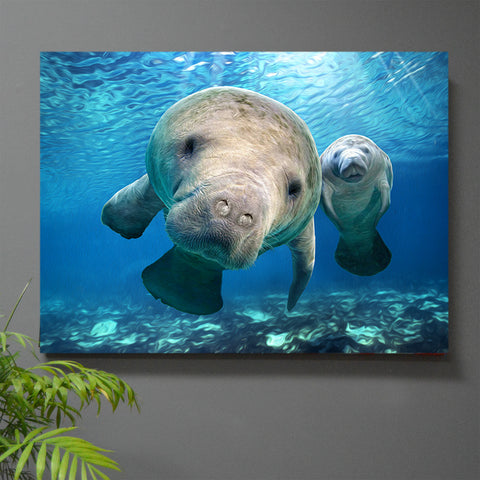 Hugh the Manatee Wall Art