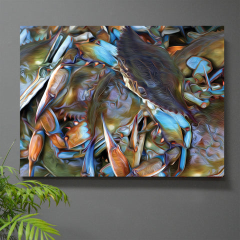 King of the Hill Blue Crab Wall Art
