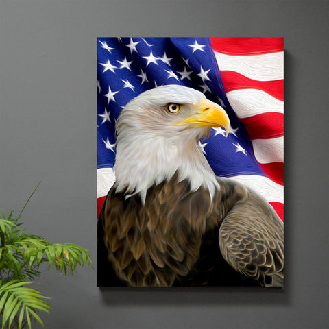 Liberty Eagle Wall Art - JWB Art Unlimited